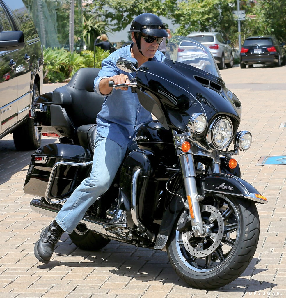 George Clooney rode his motorcycle while out in Malibu on Thursday.