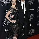 Emilia Clarke posed with costar Cory Michael Smith on the red carpet.
