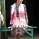 Kate Middleton Wearing a Topshop Dress in India 2016