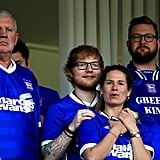 Ed Sheeran and Cherry Seaborn at Sky Bet Championship Match