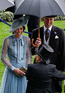 The Rain Certainly Didn't Dampen Prince William and Kate Middleton's Spirits at Royal Ascot