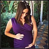 Soleil Moon Frye cradled her baby bump while modeling a new maternity dress. Source: Instagram user moonfrye