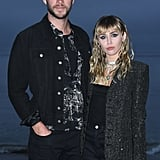 Miley Cyrus and Liam Hemsworth at Saint Laurent Show 2019