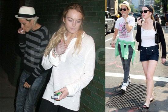 Photos of Lindsay Lohan, Samantha Ronson, Dina Lohan, Ali Lohan, Charlotte Ronson at Bowery Hotel in NYC
