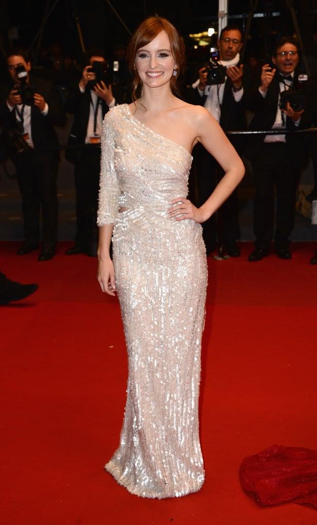 Ahna O'Reilly put her left shoulder on display in a highly embellished one-shoulder Elie Saab gown at the Fruitvale Station premiere.