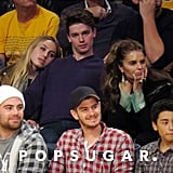 Andrew Garfield watched the Lakers game.