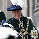 Prince William smiled at the Thistle Ceremony in Scotland.