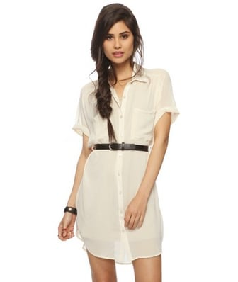 7554f25e4892 Forever 21 Sheer Georgette Shirtdress Belt ($25) | Best White ...