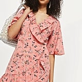 Topshop Off Duty Ruffle Tea Dress