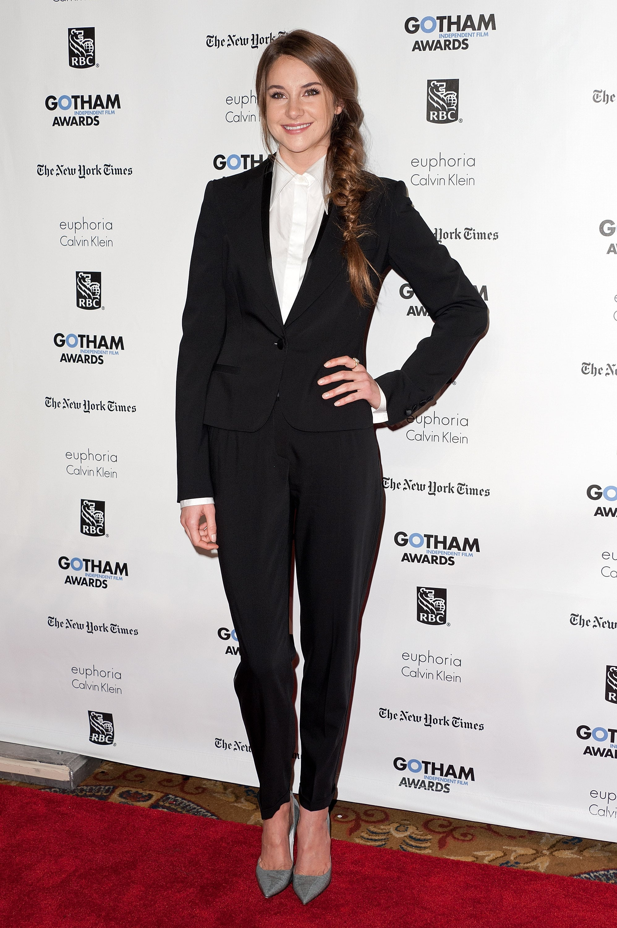 Shailene Woodley in a Dolce & Gabbana Suit at the 2011 Gotham Independent Film Awards
