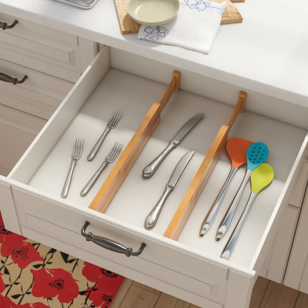 Adjustable 2 Piece Drawer Organizer Set