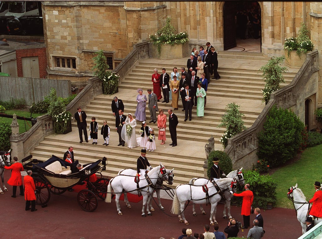 Compared to those of his siblings, Edward's ceremony was decidedly low-key. On his wedding day, he was given the titles of Earl of Wessex and Viscount Severn.