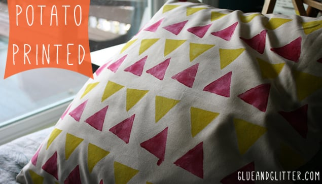 Potato-Print Pillow Shams