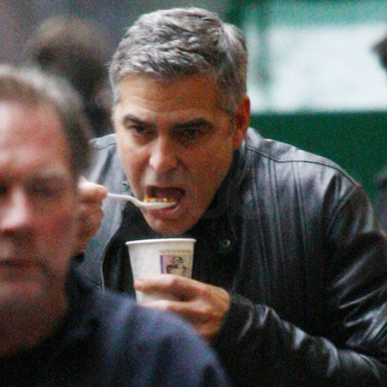 Pictures of George Clooney on the Set of The Ides of March in Detroit