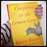 Awkwardly holding my next #popbooks — Vampires in the Lemon Grove — to show off my fun mani.