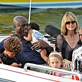 The whole crew took a boat ride during a 2010 vacation to France.
