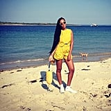 Solange Knowles looked fabulous in bright yellow for a day at the beach. Source: Instagram user mydamnstagrams