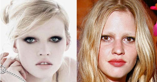 Lara Stone's Eye Color Changed For Prada Ad