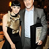 Rooney Mara and her Girl With the Dragon Tattoo director David Fincher caught up at January's AFI Awards in LA.