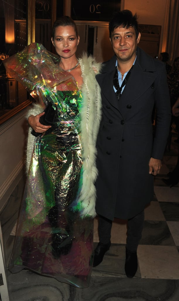 Kate Moss and Jamie Hince attended a private dinner hosted by her ex Jefferson Hack plus Jay Jopling to celebrate the tenth anniversary of AnOther Magazine last night. The party was held as part of London Fashion Week, and attracted a famous crowd including Jamie's bandmate Alison Mosshart, Tilda Swinton, Samantha Morton, and models Lily Donaldson, Erin O'Connor, and Alice Dellal, with music provided by Mark Ronson. Kate wore an LBD at the cocktail party at 10 Downing Street earlier in the evening, but got all wrapped up as she ended her night at The Box. La Roux, Jaime Winstone, and Pam Hogg had a big night out, attending this bash as well as the LOVE, Liberty & Alexander Wang do alongside the Beckhams. Kirsten Dunst relaxed after taking in Mulberry's show on Sunday. Net-a-Porter founder Natalie Massenet joined in the fun, after chatting with FabUK earlier in the day.