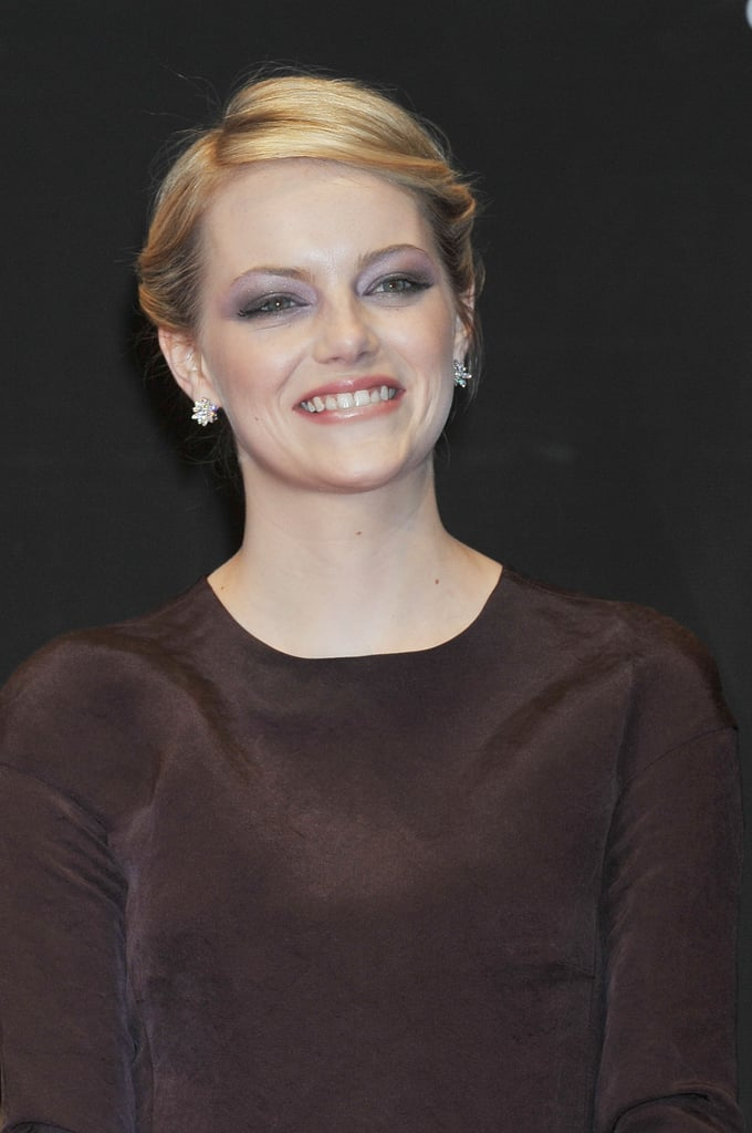 Emma Stone smiled at The Amazing Spider-Man premiere in Japan.