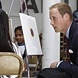 Prince William painting at Inner City Arts in LA.