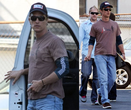 Photos of Matthew McConaughey Heading to Work in LA