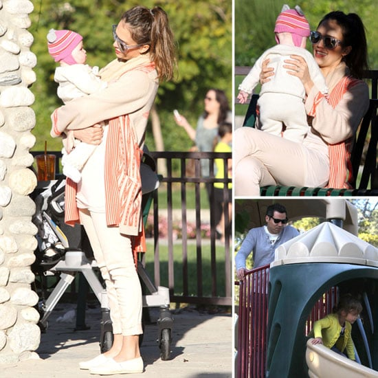Jessica Alba Returns to LA For a Park Day With Haven and Honor