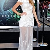 Wearing Chanel Haute Couture to the 2011 Los Angeles premiere of Green Lantern.