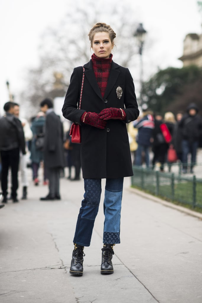 Buffalo plaid meets Louis Vuitton patchwork denim. Source: Le 21ème | Adam Katz Sinding
