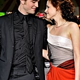 Robert Pattinson and Kristen Stewart looked lovingly at each other for another Twilight premiere in LA in November 2008.