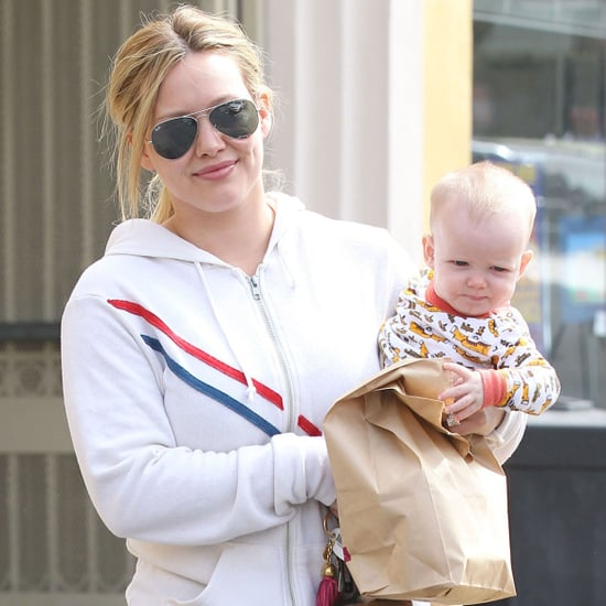 Hilary Duff at the Farmers Market With Luca