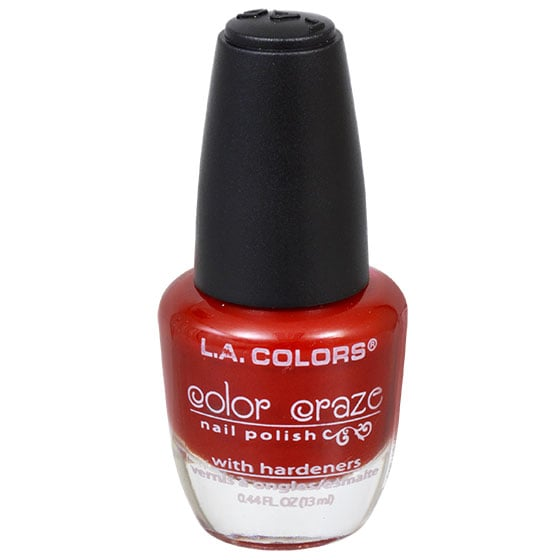L.A. Colors Color Craze Hot Blooded Nail Polish ($1 each)