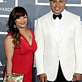 LL Cool J and his wife, Simone Johnson, were all smiles.
