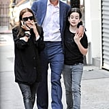 Mary-Kate Olsen hung out with boyfriend Olivier Sarkozy.