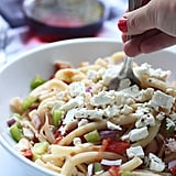 Greek Pasta With Tomatoes, Wine, and Feta