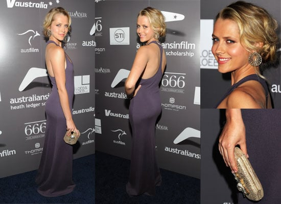 Pictures of Teresa Palmer from all angles in sexy Michael Kors dress at the Australians In Film's 2011 Breakthrough Awards