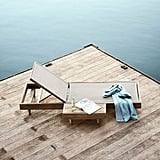 Portside Outdoor Low Textilene Chaise Lounger