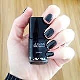 Alison's choice in polish was as stellar as ever, this time slicking on Chanel Le Vernis Nail Polish in Cosmic. All-time.