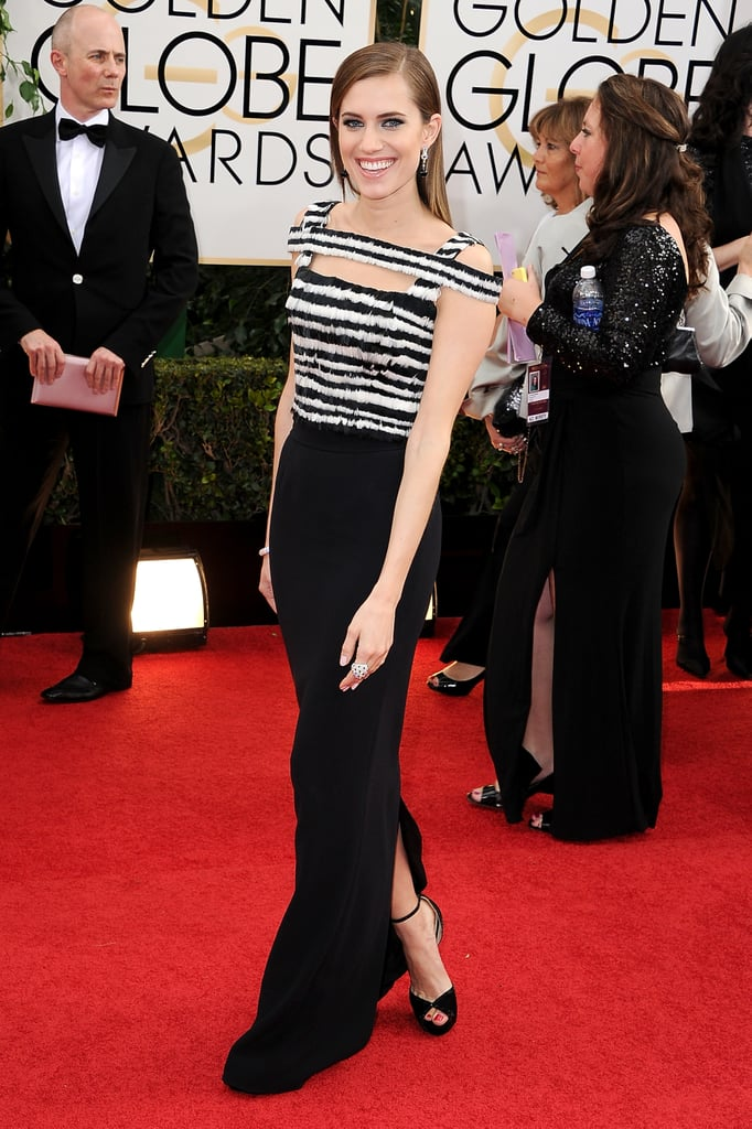 At the 71st annual Golden Globes, Allison chose this striped Alexander McQueen number, which was the perfect cross between elegant and edgy.
