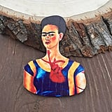 Frida Kahlo Wood Pin