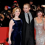 Rob posed with his two gorgeous costars.