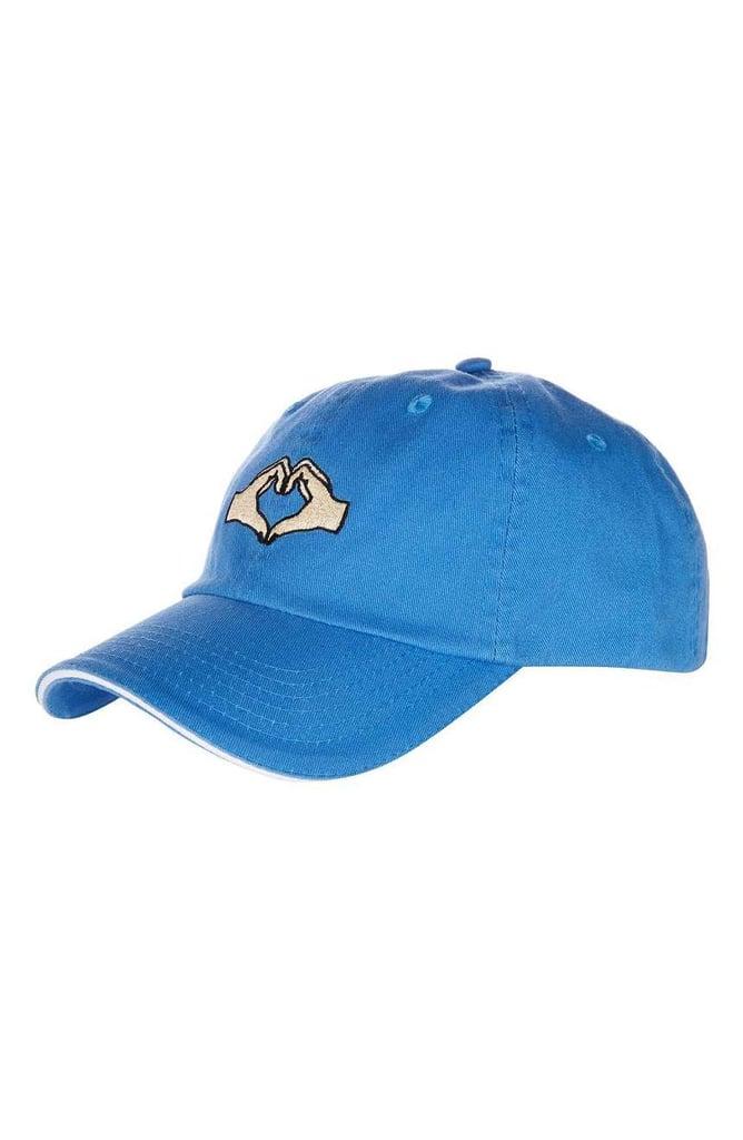 Topshop Women's Heartbreak Baseball Cap — Blue
