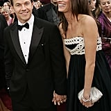 Mark Wahlberg and wife Rhea Durham couldn't stop smiling.