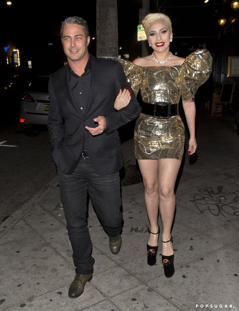 Lady Gaga Wearing Her Saint Laurent Dress