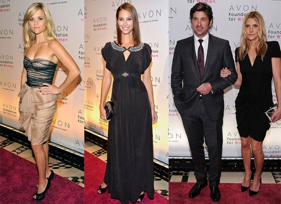 Reese Witherspoon, Patrick Dempsey, Christy Turlington at Avon Event