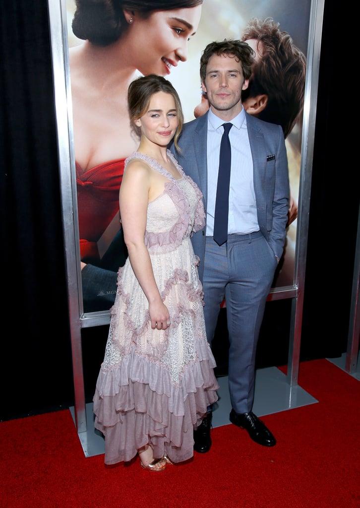 Emilia Clarke and Sam Claflin at Me Before You NYC Premiere