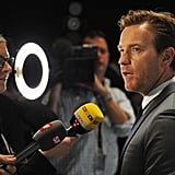 Ewan McGregor chatted it up with the press at the SIHH High Jewelry Fair in Geneva.