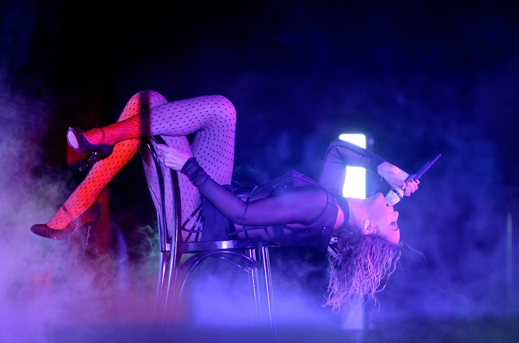 """Beyoncé got down and dirty during a performance of """"Drunk in Love"""" at the 2014 Grammys."""