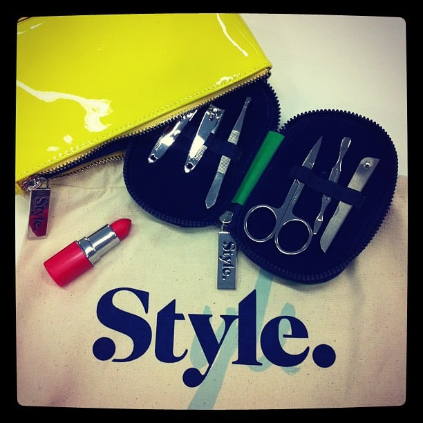 Jess received a cute gift (perfect for her nail-biting ways!) from Style Network to celebrate their relaunch.
